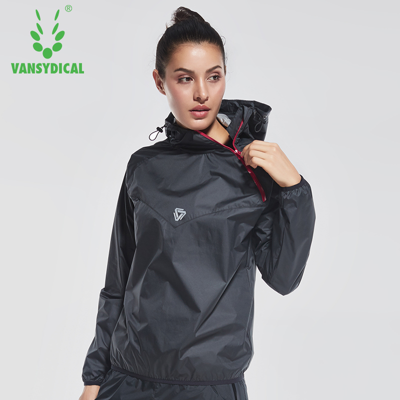 2017 VANSYDICAL Women Sports Running Sweat Jacket Lose Weight Sportswear Women Yoga Sets Gym Cloth Fitness Training Track Jacket
