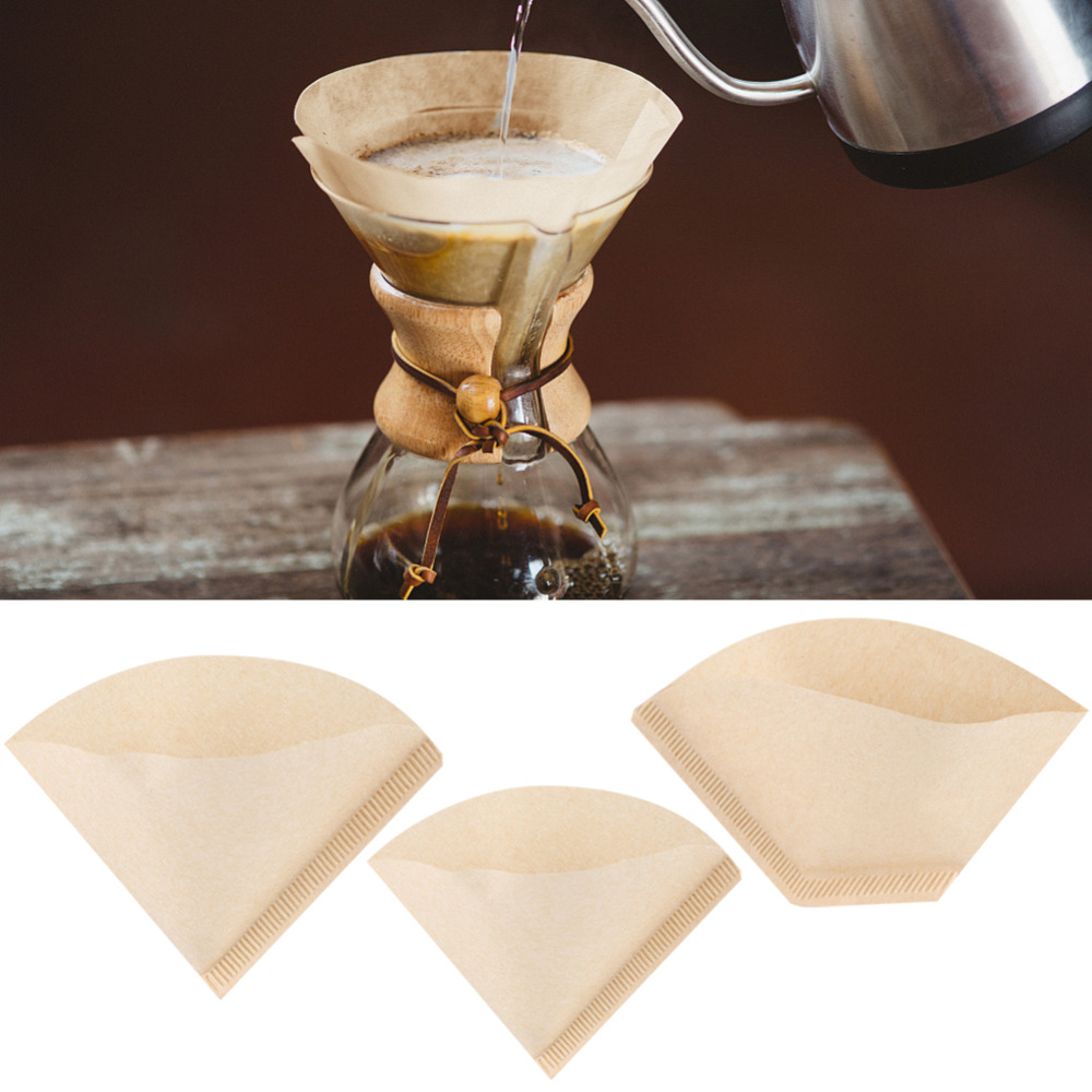 Us 24 23 Off40pcs Unbleached Natural Cone Shape Drip Coffee Cup Filter Papers Kitchen Cafe Tools Coffee Filter Papers In Coffee Filters From Home