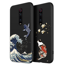 2019 Great Emboss Phone Case For Xiaomi Redmi K20 cover Kanagawa Waves Carp Cranes 3D Giant relief Pro