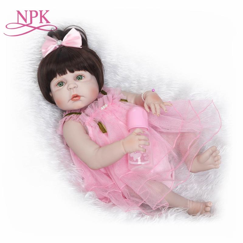 NPK Реалистичного reborn baby реального нежное прикосновение кукла Полный винил Силиконовые Мягкий Кэмерон проснулся подарки для девочек для дет...