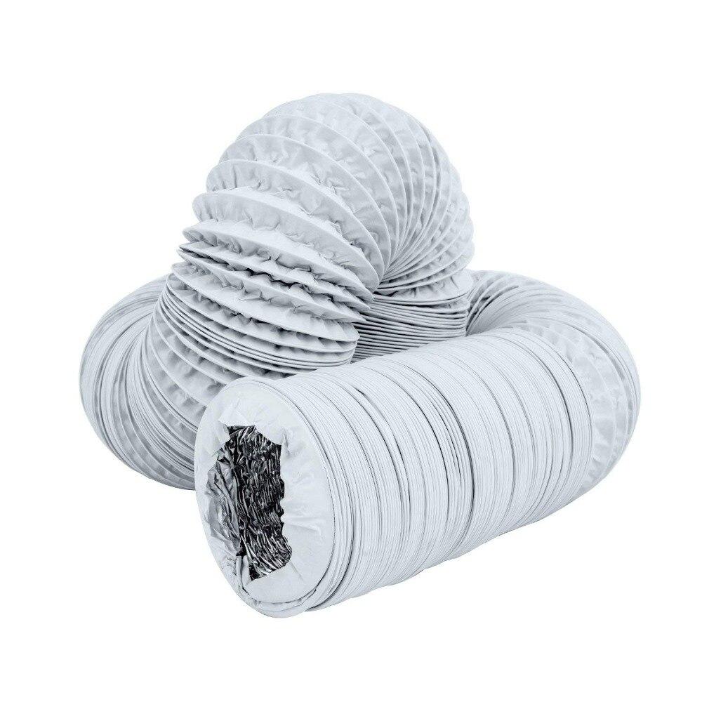 "Aluminium tinfoil flexible ducting Ventilation pipe hose tube 125dia x10M 5/"""