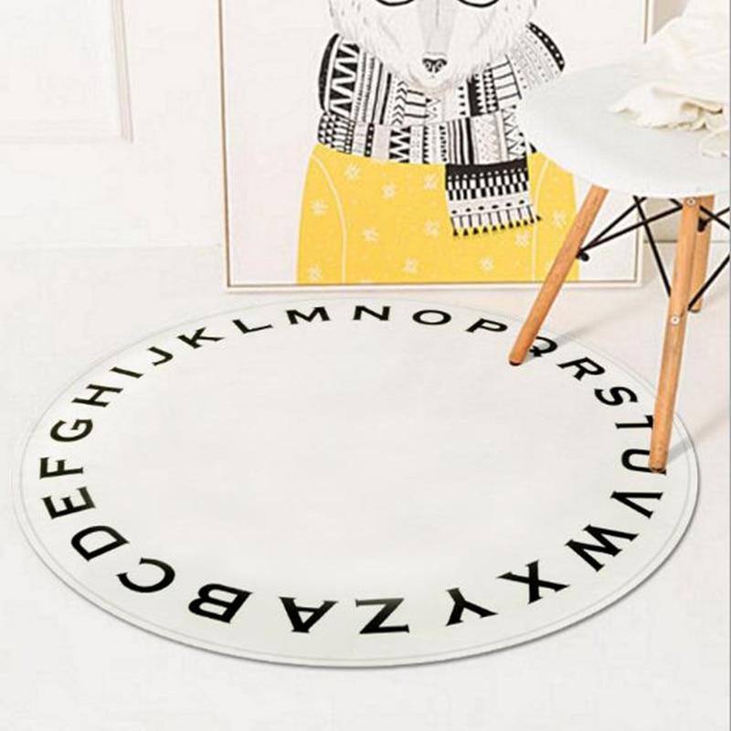 ins kids play carpet alphanumeric bedroom door MATS children carton crawling rug for livingroom parolor fashion pad tapis