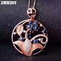 Zafiro Natural Colgante de Piedras Preciosas Collar Genuino Esterlina del Sólido 925 de Plata de Señora Jewelry