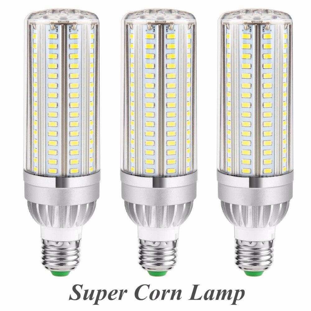 Aluminum Fan Cooling LED High Power Corn Bulb E27 45W 220V Led Lamp E26 110V 35W SMD5730 Radiator Lighting 25W Led Lamparas high power led corn light lamp bulb 105 129 153leds 85 265v 5730smd 25w 35w 45w 110v led lampada aluminum fan radiator lighting