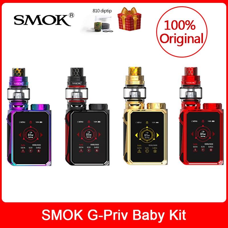 Original SMOK G-Priv Baby Kit Luxe Edition 85W with V12 Baby Prince Tank 4.5ml+Q4/Q2 coils Electronic cigarette smok g priv baby