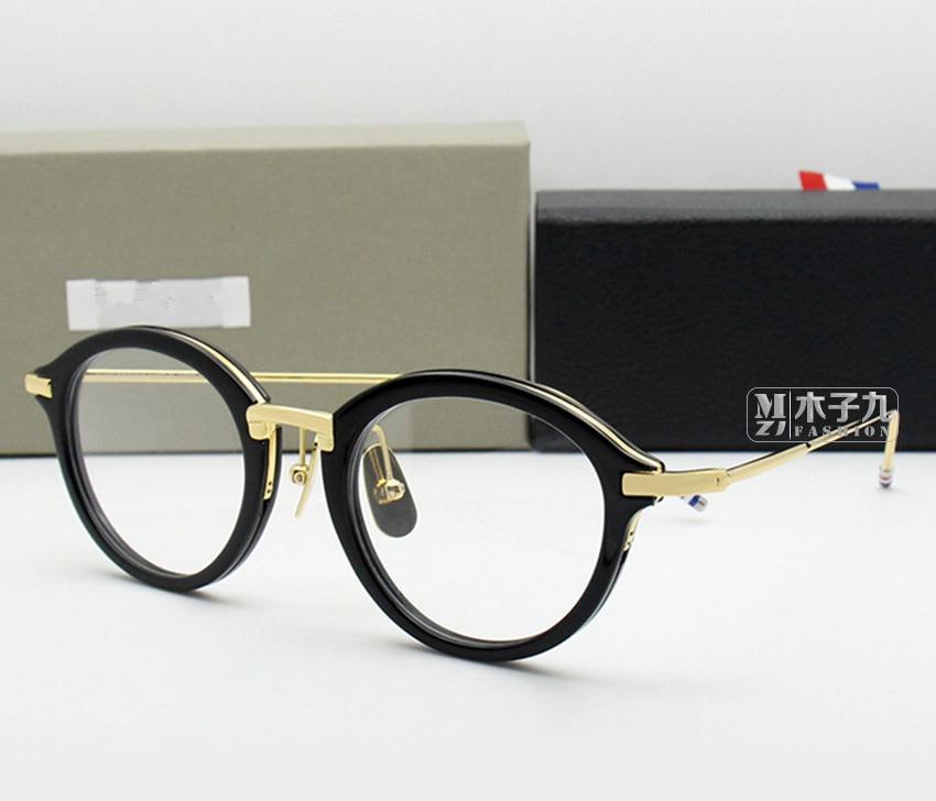 High Quality New York TB011 Men And Women Vintage Prescription Eyewear Frames  Reading Glasses With Original Box