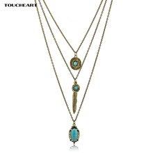 Toucheart винтажные цветочные ожерелья и подвески этнические