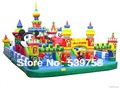 Factory direct inflatable fun city, inflatable trampoline, inflatable slides.TB-0045