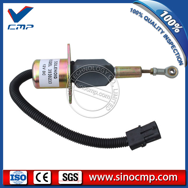 Pc300-6 12v fuel stop solenoid valve 3923680, sa-4818-12 for komatsu excavator
