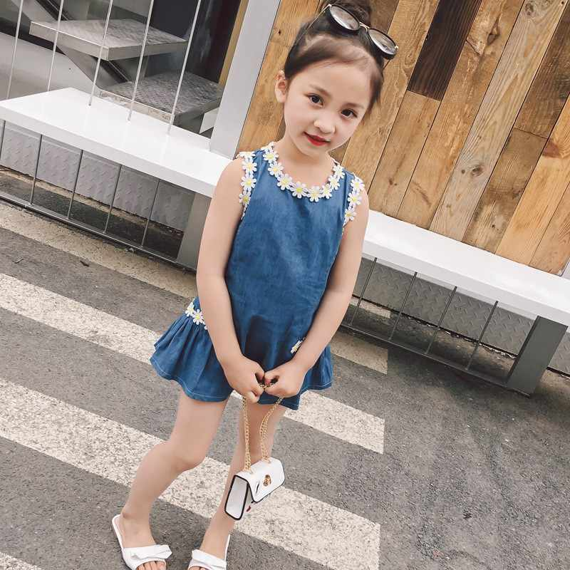 От 1 до 6 лет Детское летнее платье для маленьких девочек ппартияная Красивая хлопковая Цвет цветок со швами, подкладкой милое детское платье без рукавов Повседневное платье принцессы трапециевидной формы