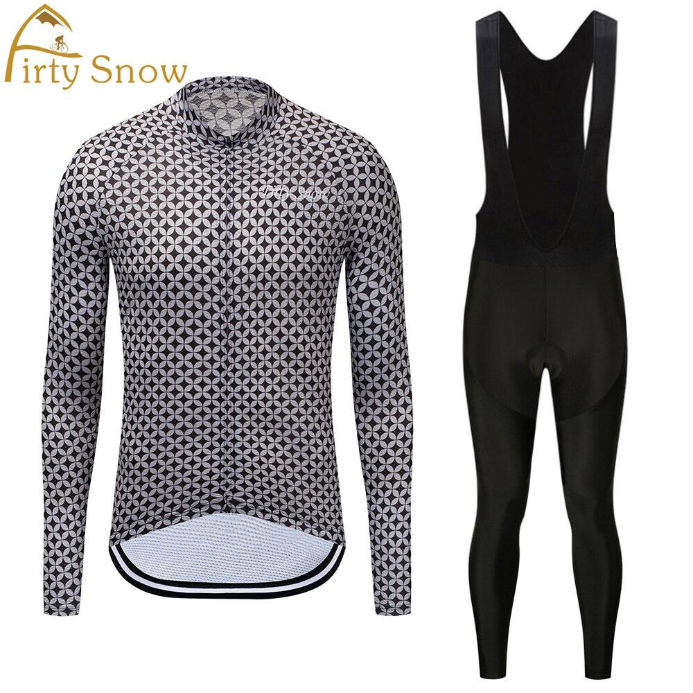 Firty Snow Men Skull Red MTB Bike jersey Bib Pants Sets Pro Team Cycling clothing Riding Wear Long Sleeve Shirts Coolmax