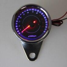 Motocross Chrome Scooter Motorcycle Analog Tachometer Gauge LED Backlight Instruments Speed Indicator ATV