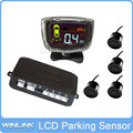 Free Shipping 4 Sensors Buzzer Parking Sensor LCD Display Car Reverse Backup Radar Monitor Parking Assistance System