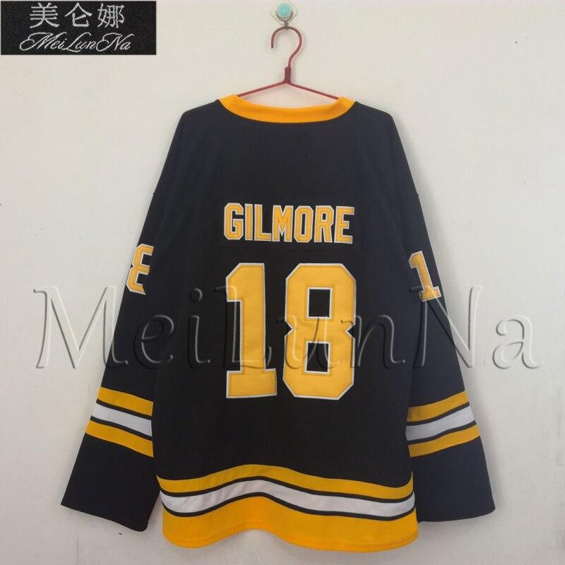 MeiLunNa Christmas Black Friday Movie Ice Hockey Jerseys Happy Gilmore  Boston 18 Jersey 1996 Sewn On Any Name NO.Size 0e218e17a
