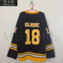 bcc787313 MeiLunNa Christmas Black Friday Movie Ice Hockey Jerseys Happy Gilmore  Boston 18 Jersey 1996 Throwback Sewn