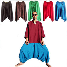 Модные мужские брюки с большим шаговым швом, шаровары, мужские брюки размера плюс M-5XL, брюки для танцев, повседневные брюки черного, зеленого, синего, белого цвета