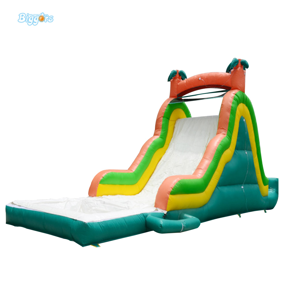 Sea Shipping Tropical Inflatable Climbing Bounce House Water Slide Pool Commercial Water Slide With Pool For Kids popular best quality large inflatable water slide with pool for kids