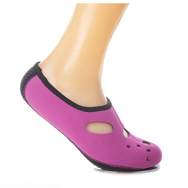 New Sale Water Shoes Aqua Socks Exercise Pool Beach Dance Swimming Diving Slip Socks black/blue/pink/rose red