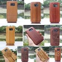 15 Styles Naturel Réel Bois de Bambou Cas Dur de Couverture pour Samsung Galaxy S6 De Protection Couverture de caisse En Bois Livraison Gratuite