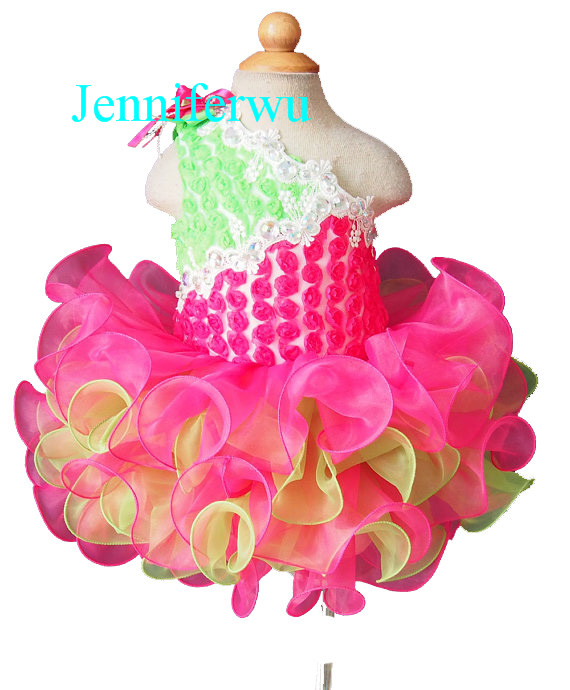 baby doll skirt little girl pageant dress and girl formal cloths1T-6T G121