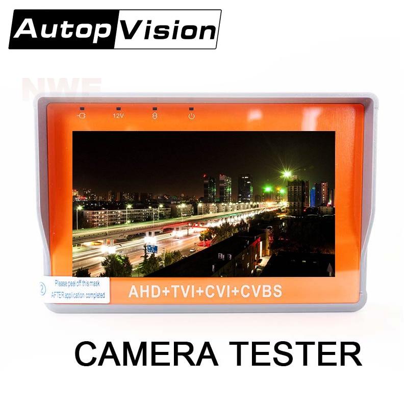IV7W Nouvelle Mise À Jour 5MP 4MP Caméra Testeur AHD TVI CVI CVBS 4IN1 Testeur CCTV 4.3 pouces Moniteur UPT Audio Test DC12V sortie