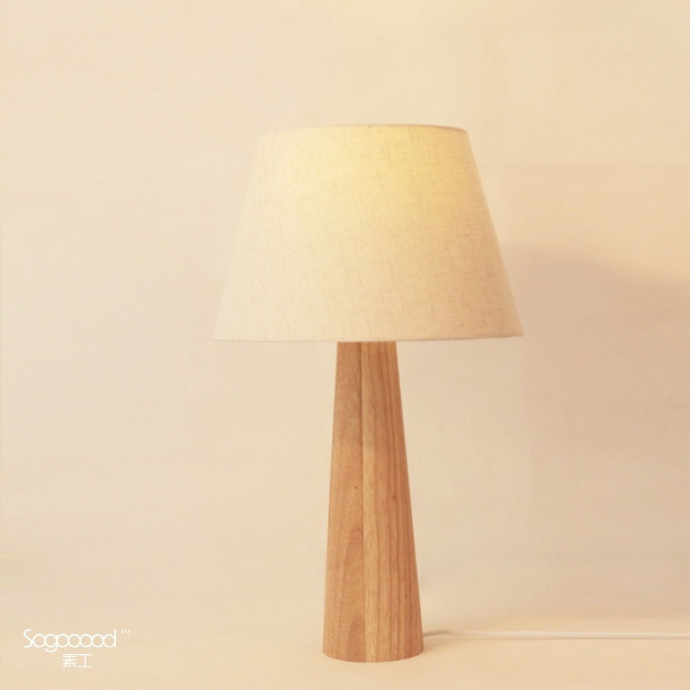 Modern table lamp solid wood light led light linen Cloth lamp ... for Square Wood Lamp Shade  70ref