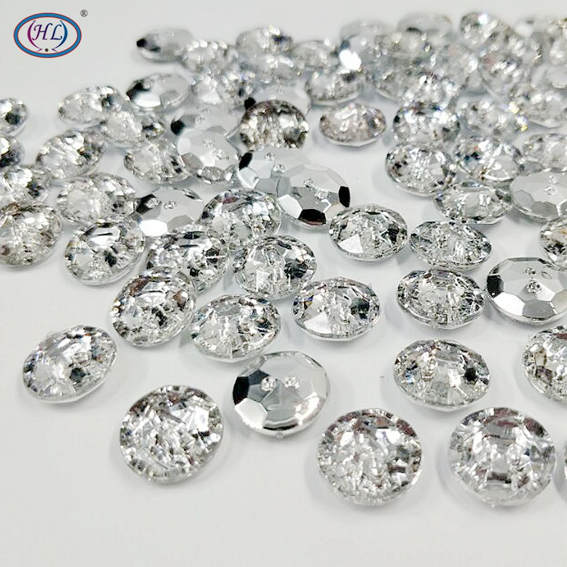 Home & Garden Buttons Junao 13mm Clear Rhinestones Buttons Sew On Round Acrylic Button Point Crystal Stones For Clothes Shirt Decoration Accessory