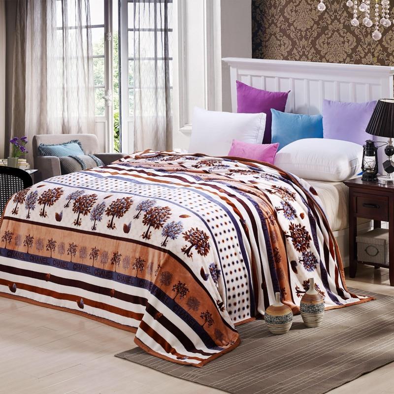ФОТО Svetanya trees blankets Ferrets cashmere soft Plaid winter sofa Throws warm Bedsheet twin queen king size