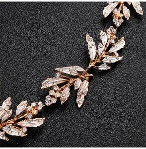 Image 5 - כסף ריינסטון חתונת חגורת אבנט כלה זהב קריסטל סרט חגורת Sashes חגורת יהלומי חתונת קישוט WS J043