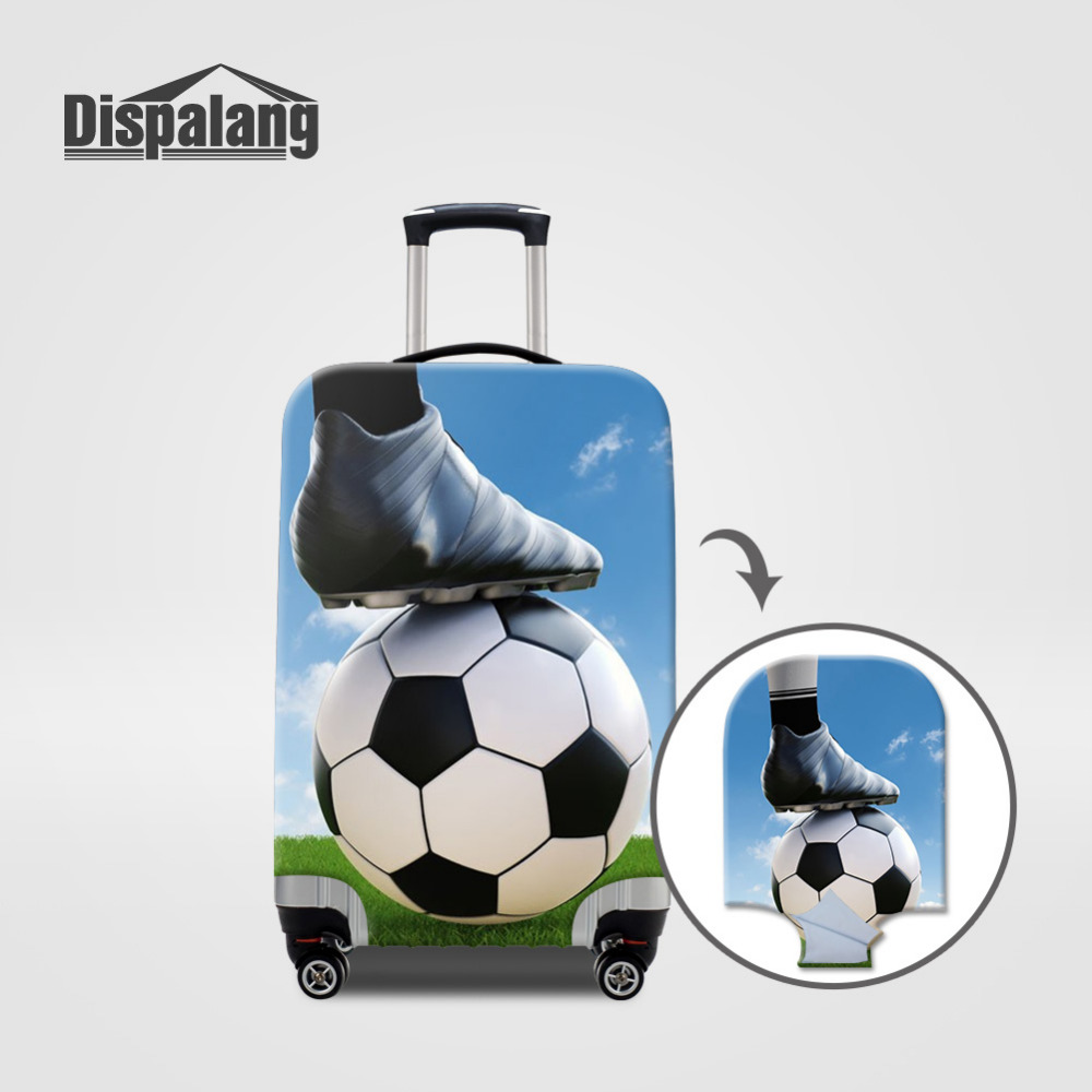 Dispalang Elastic Cover For 18-30 Inch Suitcase Soccer Luggage Protective Covers With Zipper Trolley Case Travel Accessories
