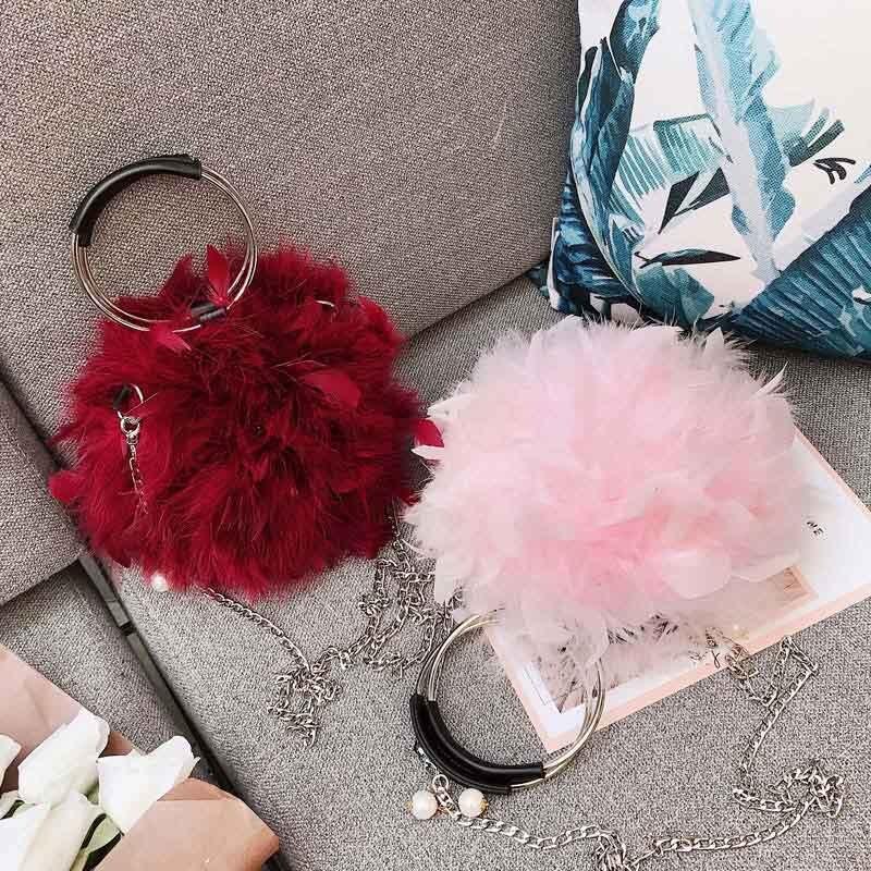 grey Signore Anello pink Donne A Bolsa Black Dei Xa490wb red Con Spalla Firebird Tracolla Frizione Borsa Capelli Borse 2018 Feminina Modo Circolare Lusso Di UwfFnv1