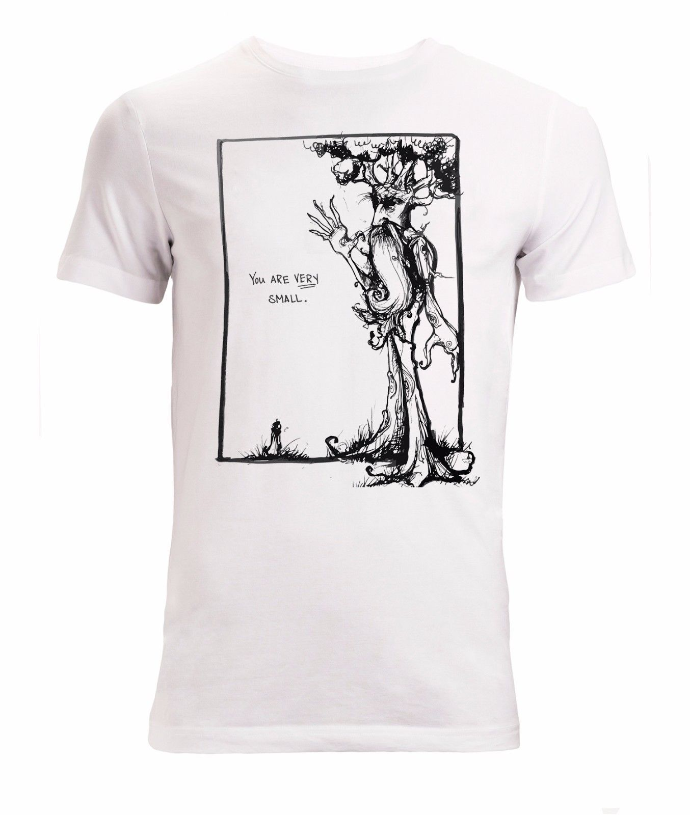 Lord of the Rings a hobbit and ent art funny LotR mens stylish t shirt white Summer Shor ...