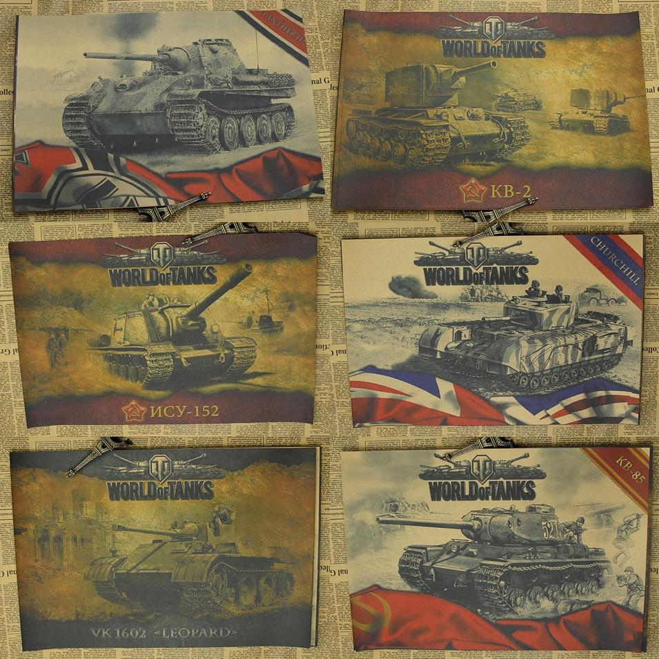 World of Tanks WOT B verzamelen Tank oorlog spel Woninginrichting decoratie Kraft Game Poster Tekening kern Muurstickers