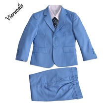 Light Blue 3 Piece Boy Suits Boys Wedding Suit Page Boy Party Prom 2-12 Years boys suits 2 piece waistcoat suit wedding page boy baby formal party 3 colours
