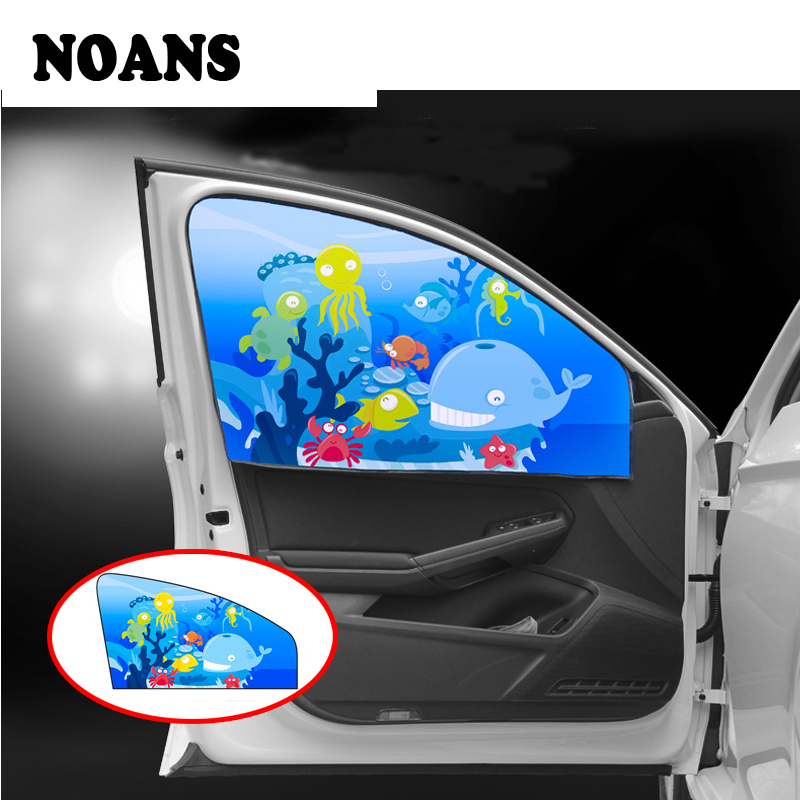 NOANS 1pcs Magnetic Curtain Sunshade Side Window Baby Shade Stickers For Honda Civic 2017 Skoda Octavia A7 A5 Mazda 3 6 CX-5
