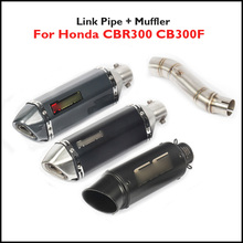 CBR300 CB300F Exhaust Pipe Muffler Silencer Escape End Can Link Connect Stainless Steel for Honda