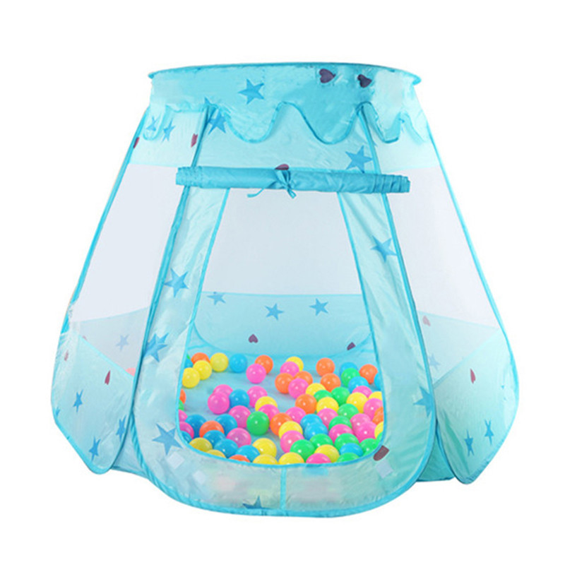 Cute Children Kid Balls Pit Pool Game Play Tent Indoor Outdoor Gaming Toys Hut For Baby Toddlers 120*90*70cm Baby Playing Pools