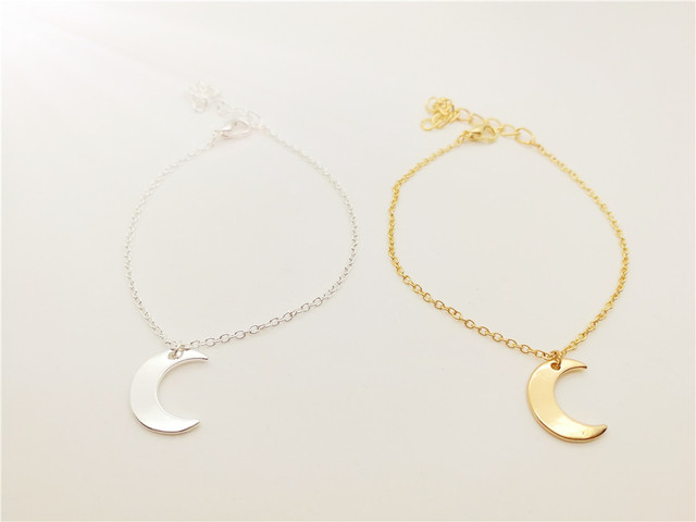 30pcs Cute Crescent Horns Moon Bracelet Simple Half Galaxy Bracelets Jewelry For