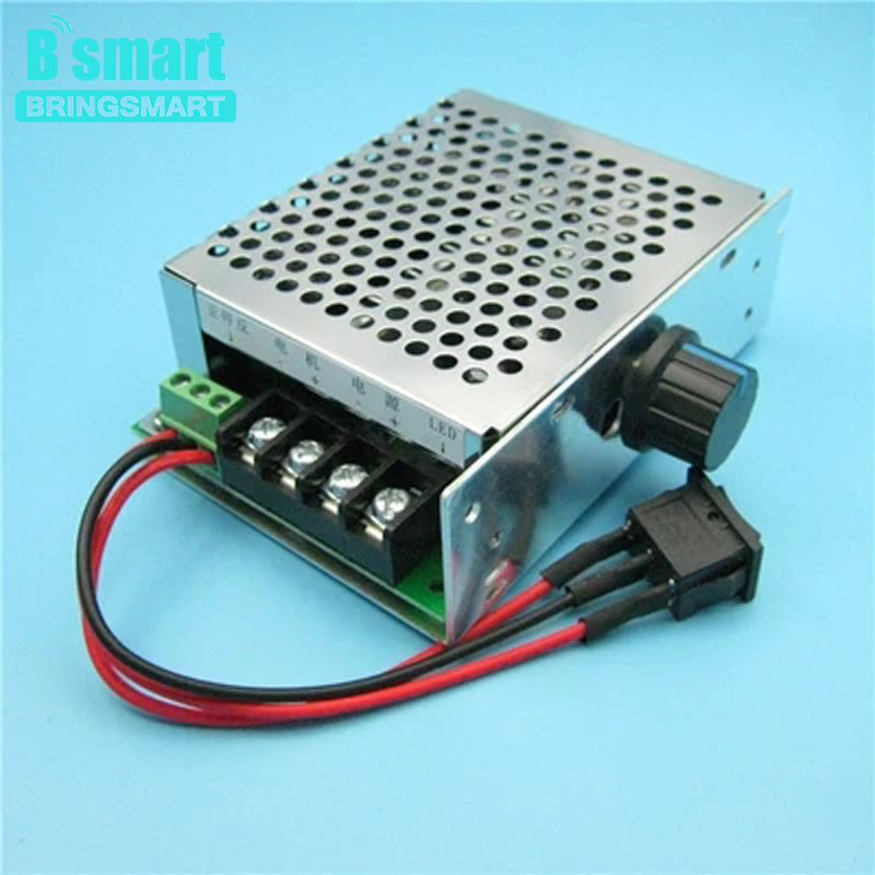 Bringsmart Wholesale PWM DC Motor Speed Controller 40A 12V 24V 36V 48V Positive Inversion Switch Controller motor speed controller regulator dc12v 24v 36v 48v 40a 1000w hho pwm variable speed switch