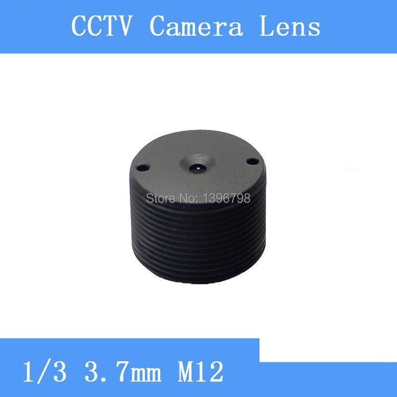 PU'Aimetis objectif CCTV surveillance caméra infrarouge caméras cylindrique sténopé lentille 3.7mm M12 fil
