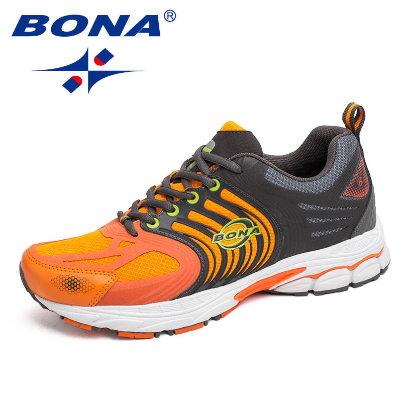 BONA New Classics Style Men Running Shoes Lace Up Mesh Sport Shoes Outdoor Walking Jooging Sneakers Comfortable Athletice Shoes
