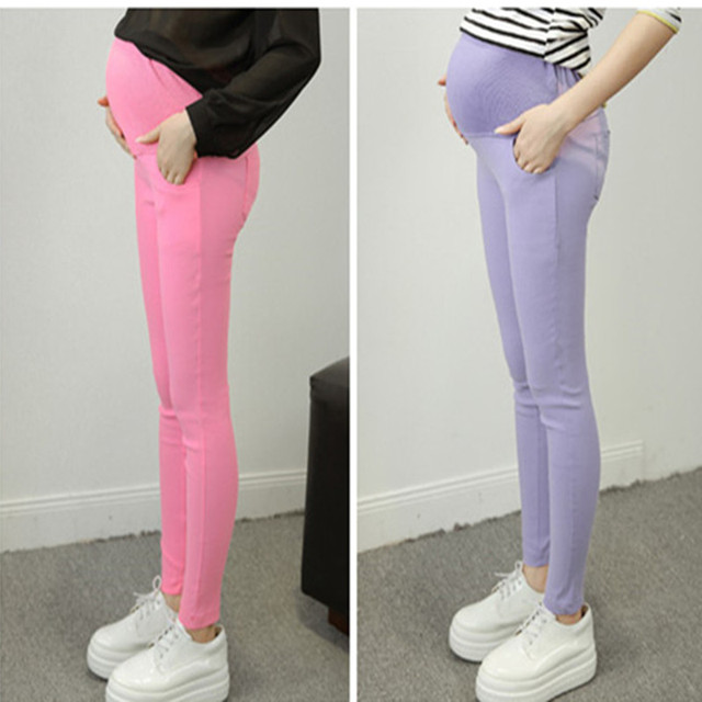 New Plus size Maternity elastic feet Leggings pencil pants women summer thin abdominal pants nine  Pants  Capris  Free shipping