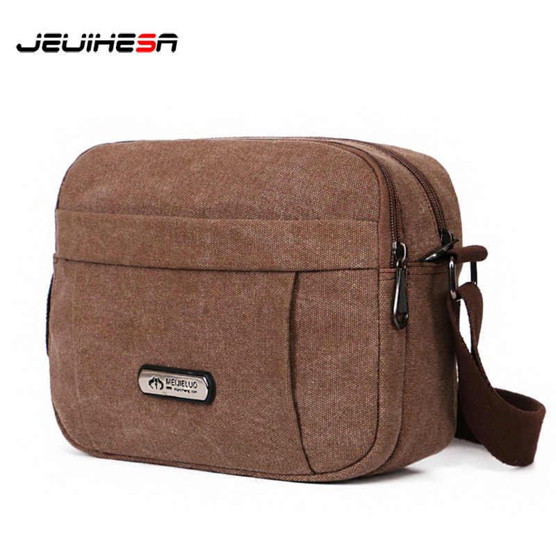 782a42676b34 Винтажная мужская сумка на плечо, холщовая модная мужская сумка через  плечо, сумки-мессенджеры