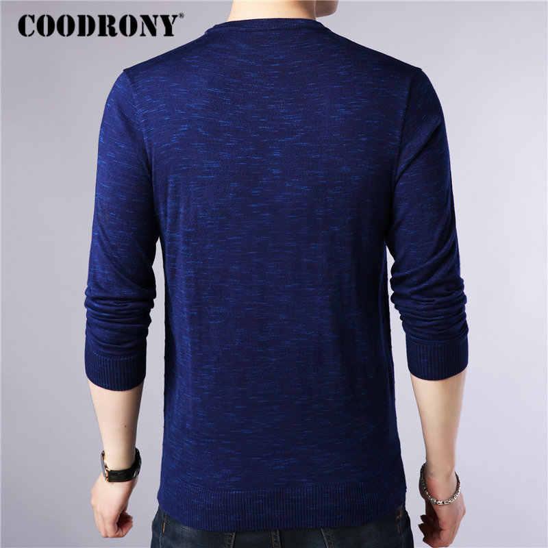 Coodrony 브랜드 스웨터 남자 가을 겨울 캐시미어 울 스웨터 streetwear 패션 o-넥 풀오버 남자 니트 당겨 옴므 91068