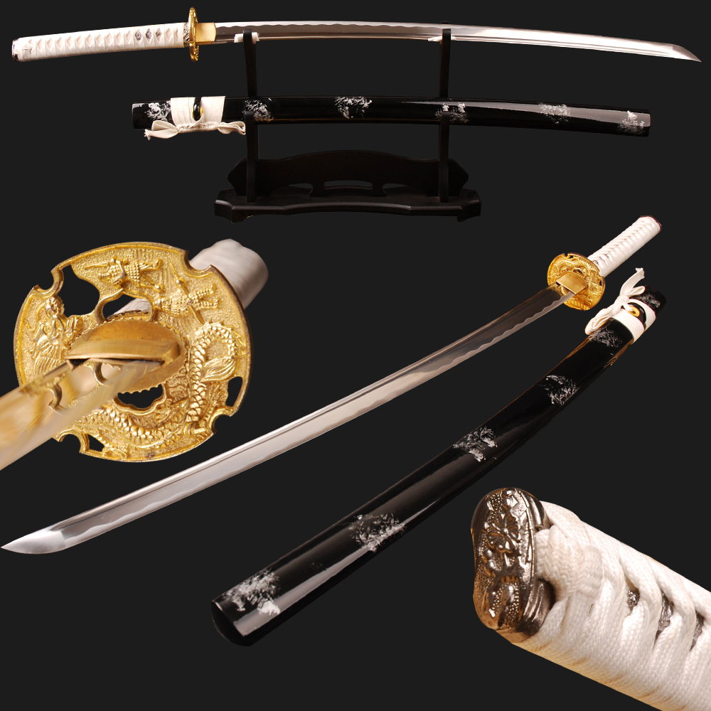 SHI JIAN Sharp Samurai Katana Japanese Sword Full Tang High Carbon Steel Blade Cut Bamboo Espada Samurai Cosplay Kinfe Home Deco