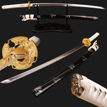Buy Sharp Samurai Katana Japanese Sword Full Tang High Carbon Steel Blade Can Cut Bamboo Espada Samurai Cosplay Kinfe Home Decor