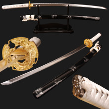 SHI JIAN Sharp Samurai Katana Japanese Sword Full Tang High Carbon Steel Blade Cut Bamboo Espada Samurai Cosplay Kinfe Home Deco(China)