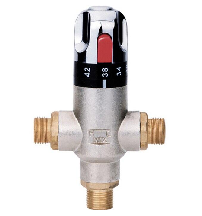 Livraison gratuite mélangeur thermostatique, G1/2 vanne thermostatique en laiton vanne de contrôle de température AF085