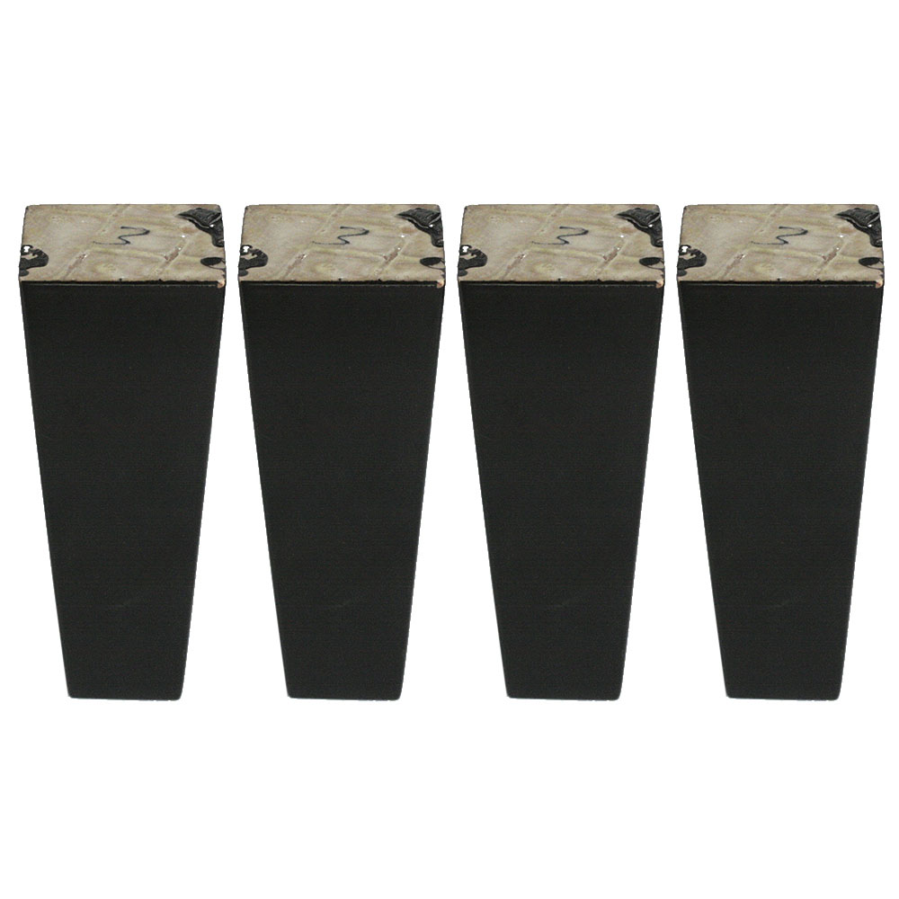 4PCS 6x15x3.8CM Furniture Legs Wooden Furniture Feet Cabinet Table Feet with Iron Pads Gaskets Screws шкатулка windrose wr 3880 6