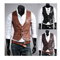 Fashion Wild Chaleco Hombre Vest Men 2017 Spring Autumn New fund Fashion Slim Men's PU Leather Mens Fur Vest